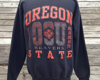 Vintage 80s/90s Oregon State Beavers Sweatshirt - Medium - University