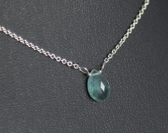 Aquamarine Necklace, March Birthstone Necklace, Sterling Silver Aquamarine Necklace, Tiny Aquamarine Necklace, Aquamarine Birthstone Gifts