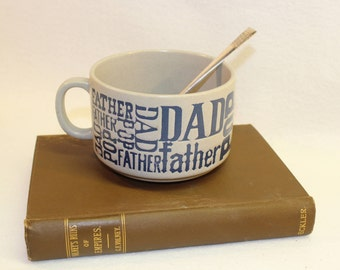 Pottery Mug - Soup Mug - Dad Pop Father