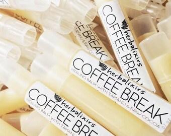 3FOR12!! COFFEE BREAK HEALING Balm // cocoa butter, tamanu, sweet almond, beeswax, castor, meadowfoam // Mocha Lip Balm Tube