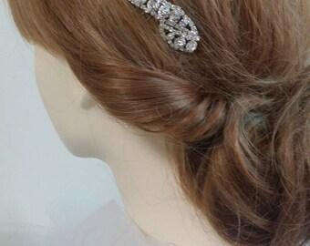 White Crystal Hair Comb/ Bridesmaids Hair Comb/Sparkly Crystal Hair Comb/Crystal Hair Piece