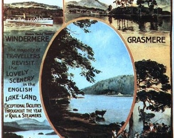 Vintage Furness Railway Lake District Poster A3 Print