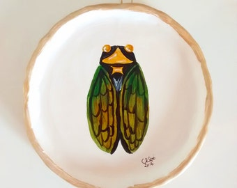 """Cicada"" clay saucer"