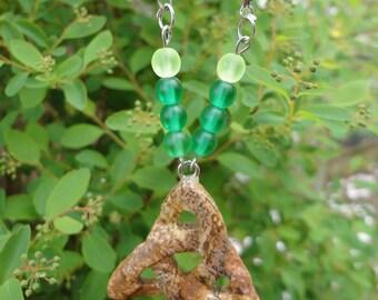 triquetra Jasper necklace landscape