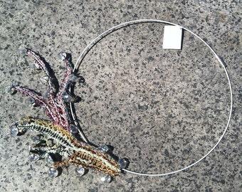 Lace jewelry Crochet bib necklace bobbin lace necklace big choker