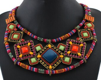 African Inspired Choker Necklace