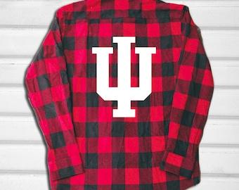 Indiana University Hoosiers IU Bloomington College University Sports Tailgate Flannel Shirt