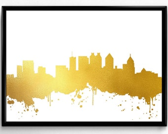 Atlanta Skyline, Travel, City Skyline, Poster, gift, Poster, Room Decor, printable wall art (62)