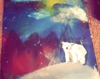 Polar Bear Magic Original Painting 11X14