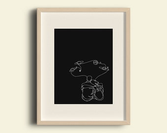 PRINT, our universe, ilustration, planets, lovers, stars, minimalist, decoration, home