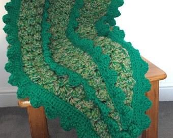 Crochet Crocodile Tail Blanket Pattern