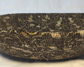 Sewn Coiled Fabric Bowl