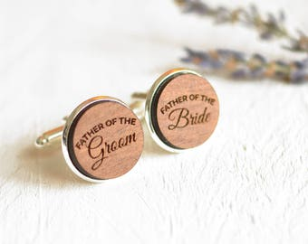 Father Of The Bride Cufflinks Wedding Cufflinks Wood Cufflinks Mens Cufflinks Father Of The Groom Cufflinks Wedding Keepsake For Dad