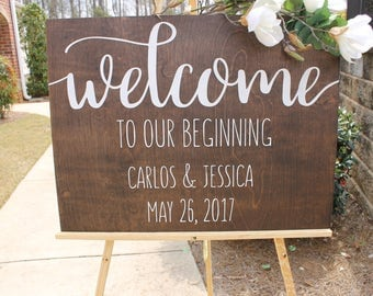 Welcome Wedding Sign| Wooden Wedding Welcome Sign| Rustic Wedding Decor| Farmhouse Wedding| Spring Wedding| Winter Wedding| Summer Wedding