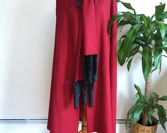 Ruby Red Night Owl Cape | vintage 1980s