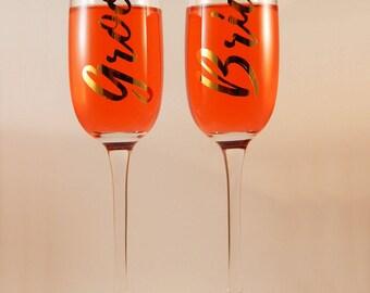 Bride/Groom Premium Champagne Flute