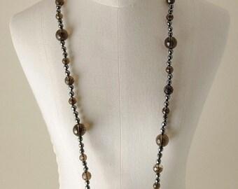 Smoky quartz Hematite necklace