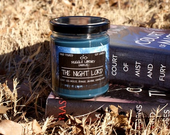 The Night Lord - Rhysand Candle - inspired by A Court of Mist and Fury - hand poured soy candle - 9oz glass jar