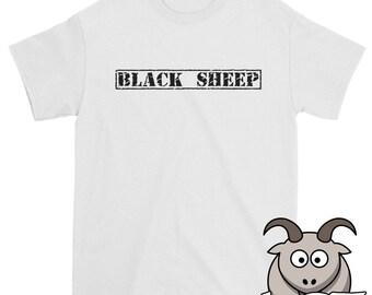 Black Sheep Shirt, Pariah Shirt, Outcast Shirt, Reject Shirt, Disfunctional Shirt, Funny Shirt, Funny TShirt, Funny Clothing, Loser Shirt