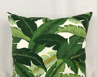 Banana Leaf Accent Pillow