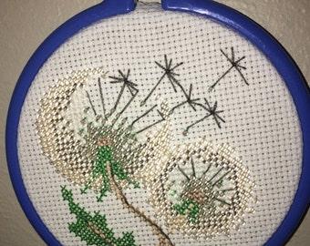 Make a Wish- Finished Cross Stitch