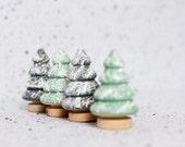 Miniature Christmas Trees  Tiny Trees  Custom Colours