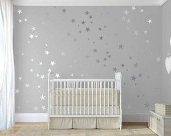 metallic stars nursery wall decals wall stickers babies wall art decal