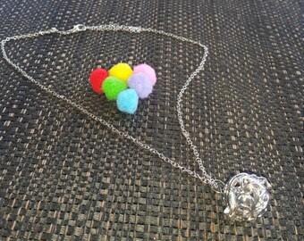 Essential oil diffuser leaf filigree necklace