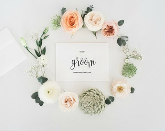 To My Groom On Our Wedding Day Card, To My Groom Card, Groom Wedding Gift, Wedding Card To Groom, Card For Groom, Bride Gift to Groom, PDF