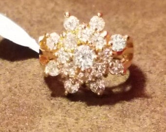 Gold Plated Fashion Rings Size 5