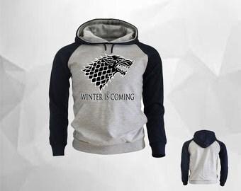 Winter is Coming Hoodie, Game of Thrones Hoodie, House Stark, Eddard Stark, Winter Is Coming Shirts Game Of Thrones Hooded Sweatshirt,