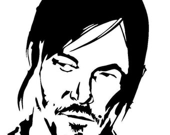 The Walking Dead Daryl Dixon cutting file for Silhouette and Cricut/SVG/Studio 3/PNG/DXF/jpg/eps/pdf