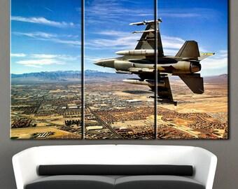 Fighter Aircraft, Wall Art, plane in the sky, war plane, warplane art, fighter in the sky, hostilities, flight, flight on canvas, print