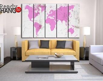 world map art world map poster world map paint world map art print - World Map Decor