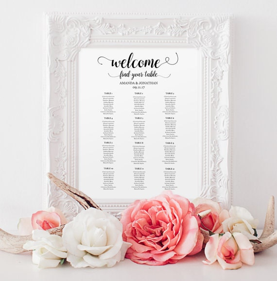 Wedding seating chart instant download | wedding seating chart printable template | wedding seating chart board | Wedding Seating  #WDHOO12