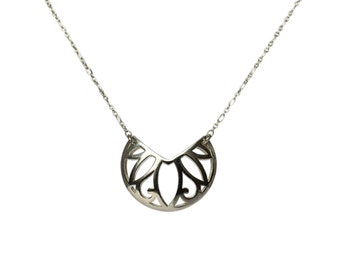 Necklace arabesque oriental necklace, silver necklace, Arabesque necklace, necklace, necklace leather, silver sterling