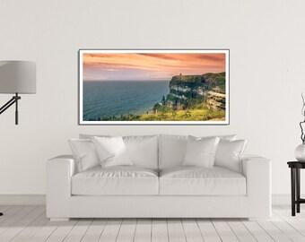 LIVING ROOM wall art Print, Home Decor Wall Art - Horizontal wall art - Extra large wall art prints of Cliffs of Moher - Ireland