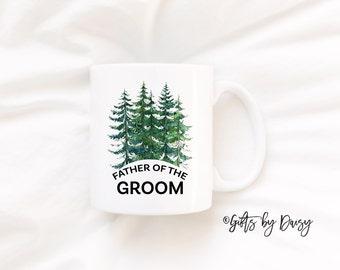 father of the groom coffee mug, father of the groom mug, wedding mug, gift for dad, engagement mug, christmas gift, wedding gift m-99