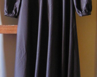 vintage dark brown maxi dress