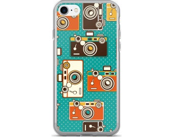 Camera iPhone Case, Phone Case Camera, Retro Camera Phone Case, Protective iPhone Case, iPhone 7 Case, iPhone 6 Case, iPhone 5, Vintage Cam