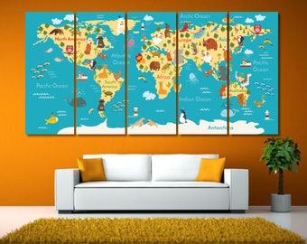 Large World Map Canvas Art, Framed Push Pin Map, World Map Kids Room, Kids World Map, Push Pin Travel Map, World Maps Kids, PushPin Map LC61