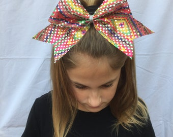 Bright Color Patterns and Sparkle Cheer Bow