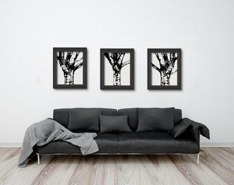 Black and White Tree Set