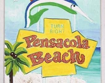 Textured Pensacola Beach Sign Kit