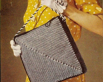 Vintage Commuter's Bag Crochet Pattern