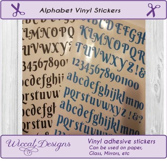 letter stickers alphabet stickers vinyl letters letter With small vinyl letter stickers