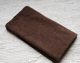 Fur fabric (for plush toys, dolls, pillows) brown.