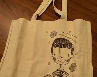 Fabric Tote Bag Promoting Universal Education
