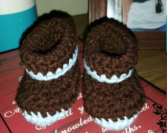 Crochet Baby Booties 0-6 mos.