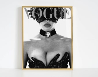 Vogue Print Fashion Wall Art Vogue Poster Fashion Decor Vogue Cover Vogue Magazine Vogue Paris Original Printable Art Fashion Print